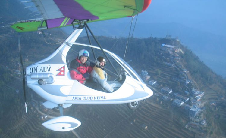Ultra Light Aircraft in Pokhara