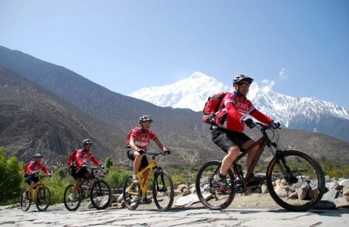 Bicycling in Nepal