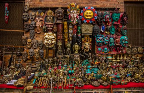 Shopping at Bhaktapur